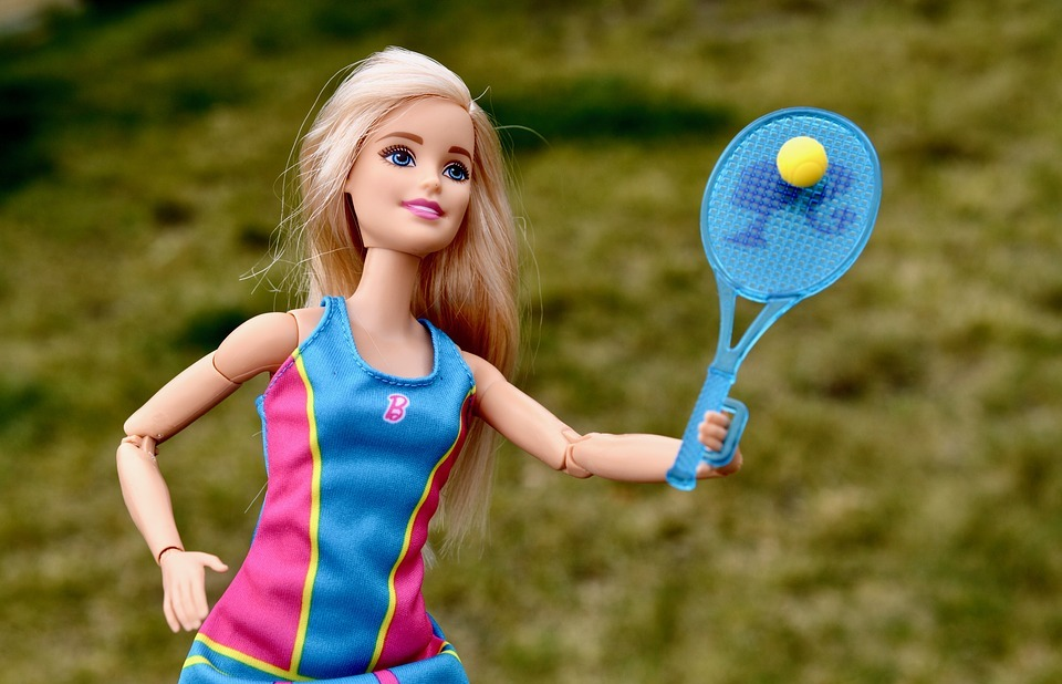 barbie, doll, tennis
