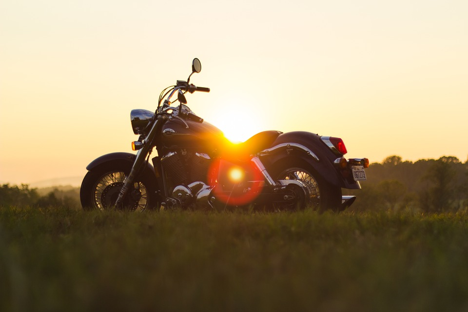 motorcycle, sunset, summer
