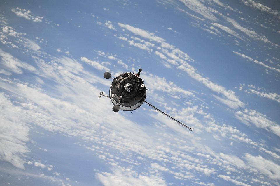satellite, space, spaceship