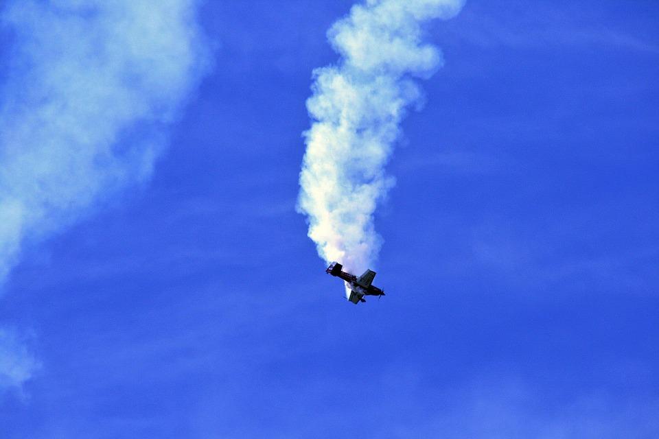 air show, airplane, show