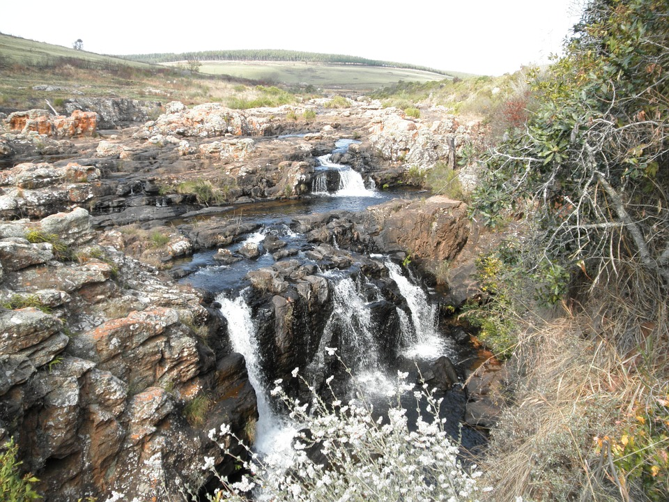 waterfall, south africa, tourist attraction