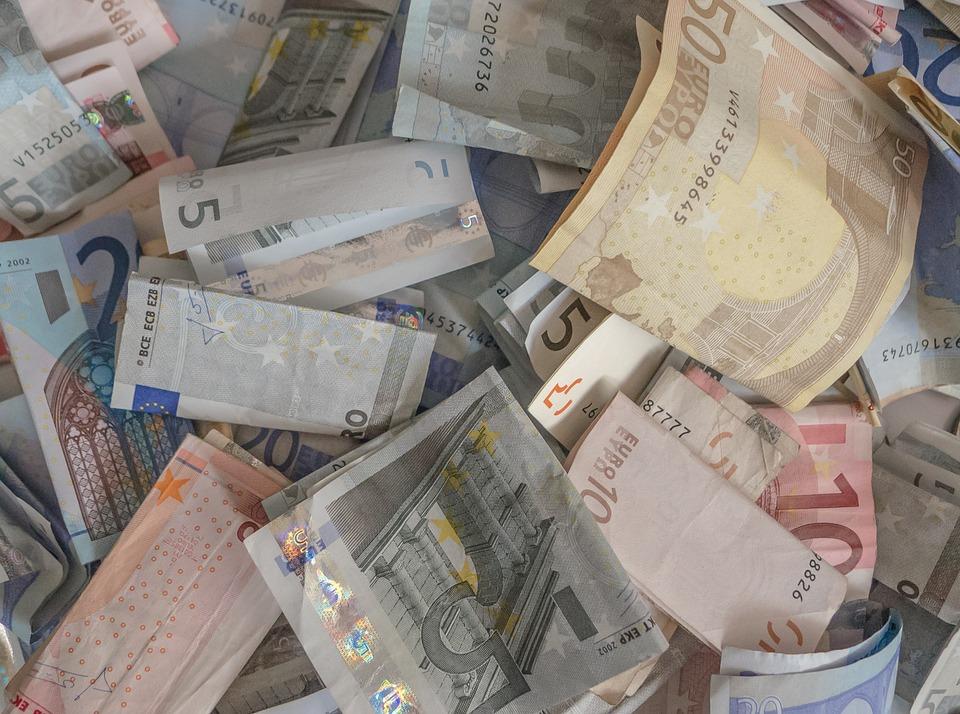 money, eur, ticket