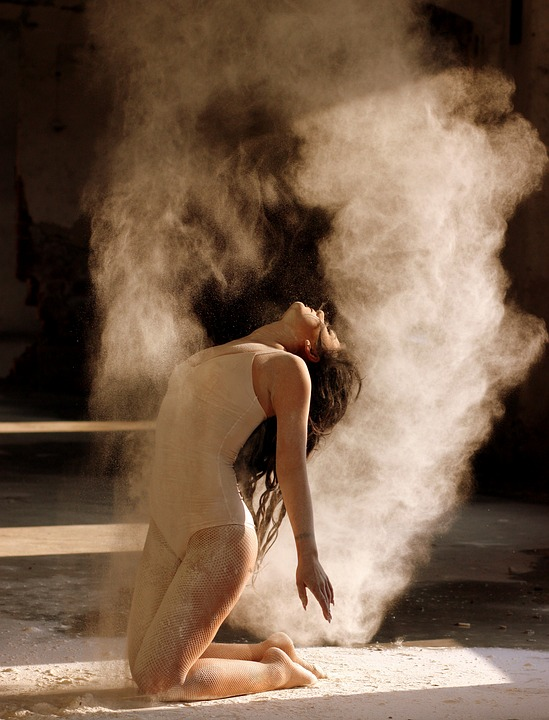 dancer, flour, motion