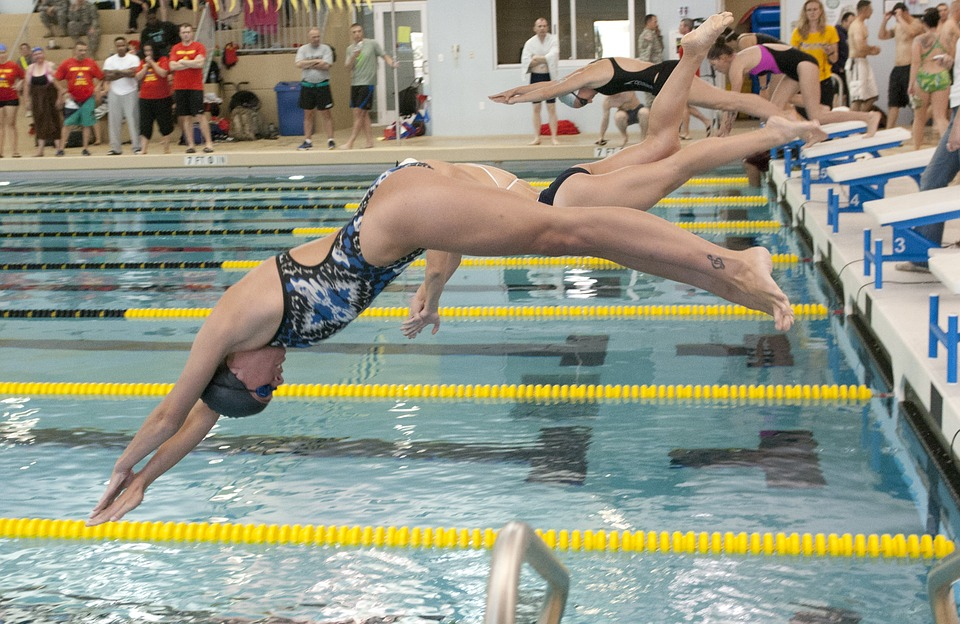 swimming, race, competition