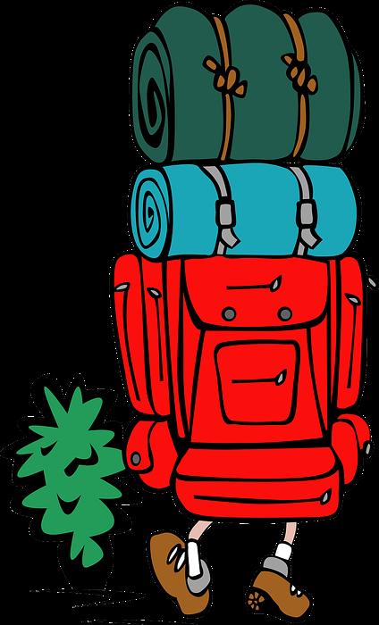 backpacking, hiking, camping
