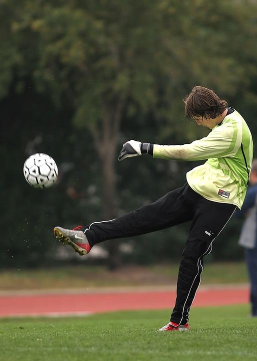 soccer, kick, football