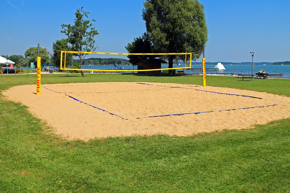 beach volley, volleyball, playing field