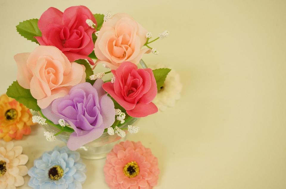 flowers, artificial flowers, orange