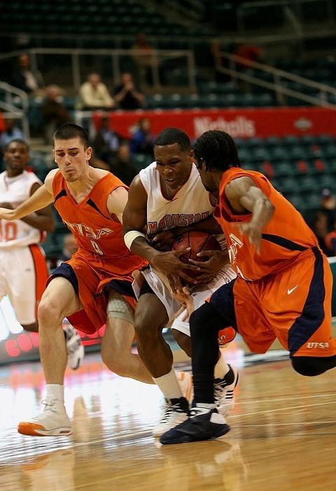 basketball, action, players