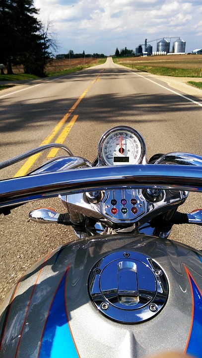 motorcycle, open road, freedom