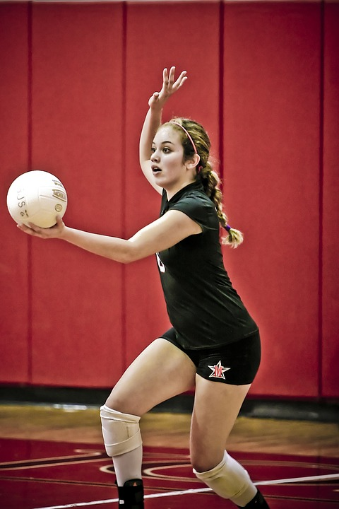 volleyball, serve, player
