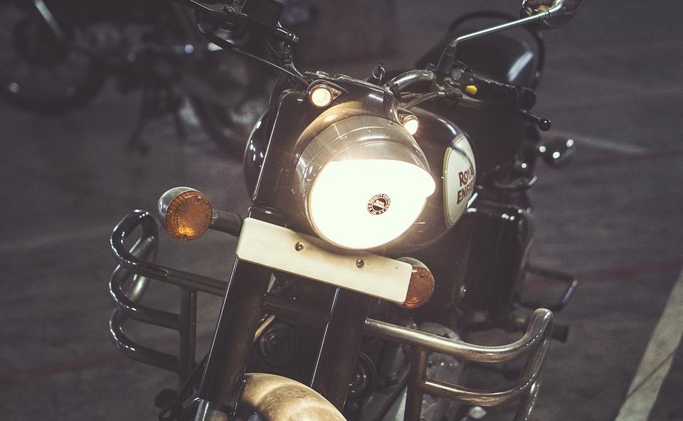 motorcycle, motorbike, headlight