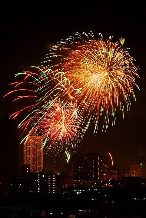 firework, festival, bangkok