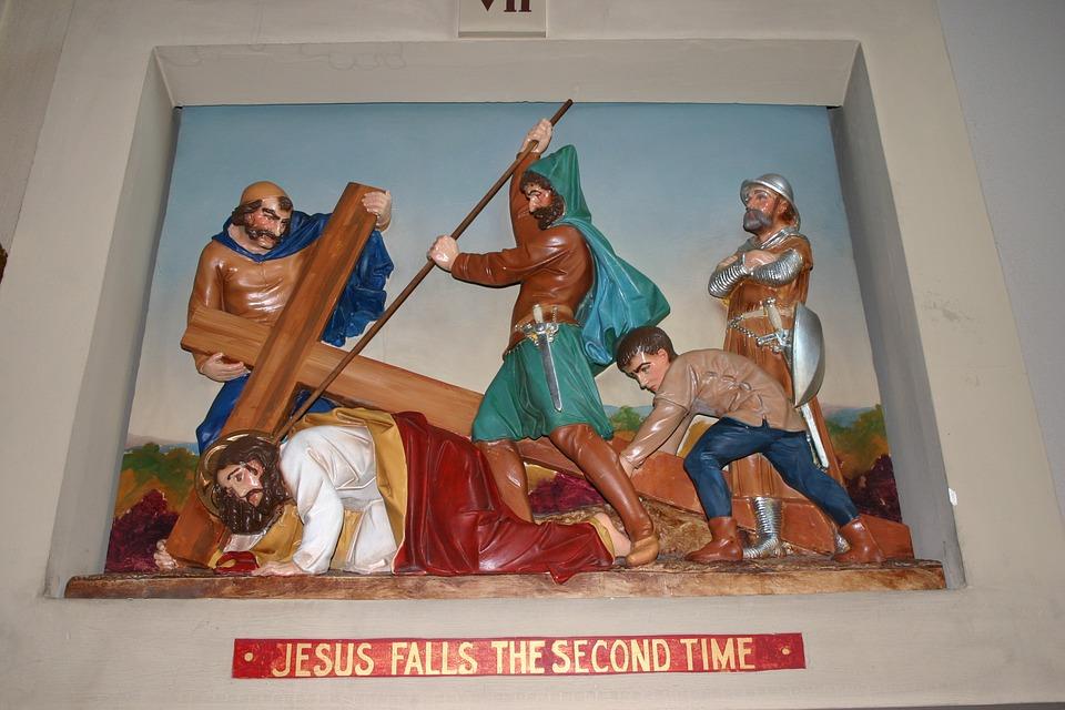 catholic station, church diorama, christ