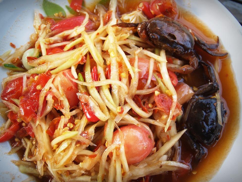 somtum, dish, thailand