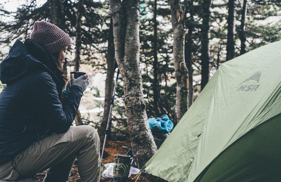 camping, tent, nature