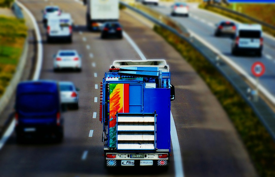 highway, truck, traffic