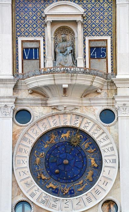 zodiac sign, time, clock