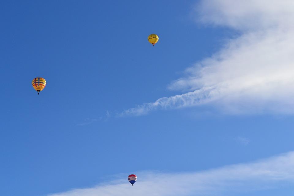 hot air balloons, sky, fly