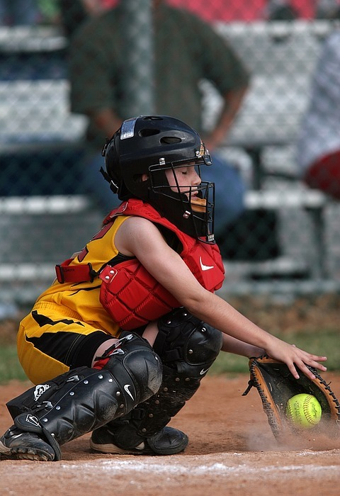 softball, catcher, female