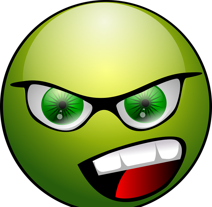 angry, face, emoticon