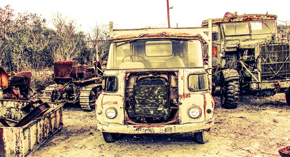 truck, old, rusty