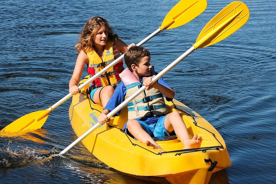 sport, kayak, paddle