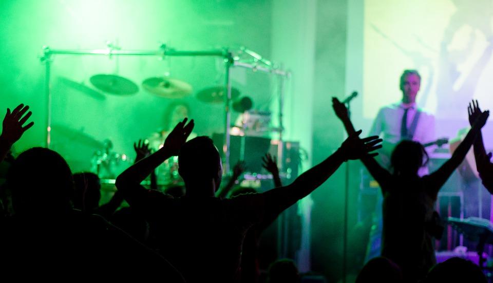 concert, cheering, people