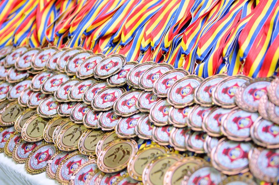 medals, karate, sport