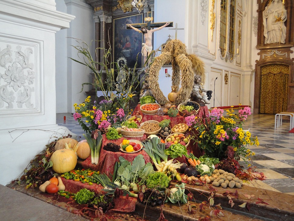 cereals, thanksgiving, church
