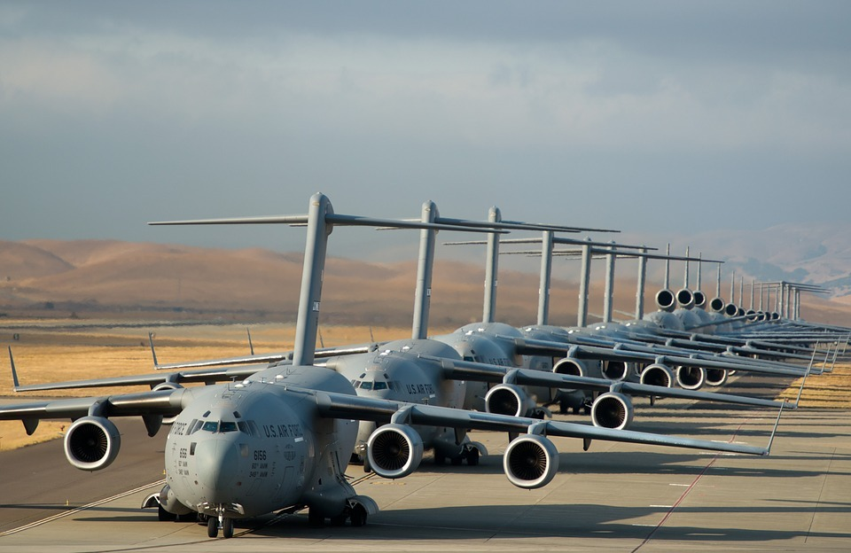 military jets, runway, usa