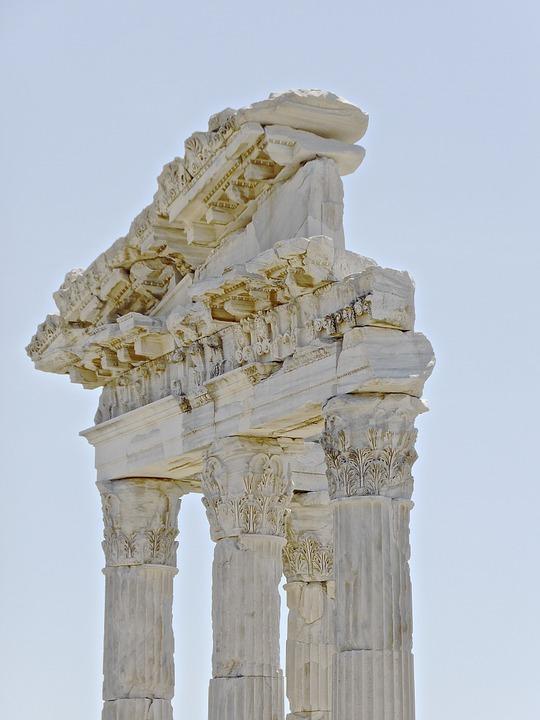 ruins, turkey, columns