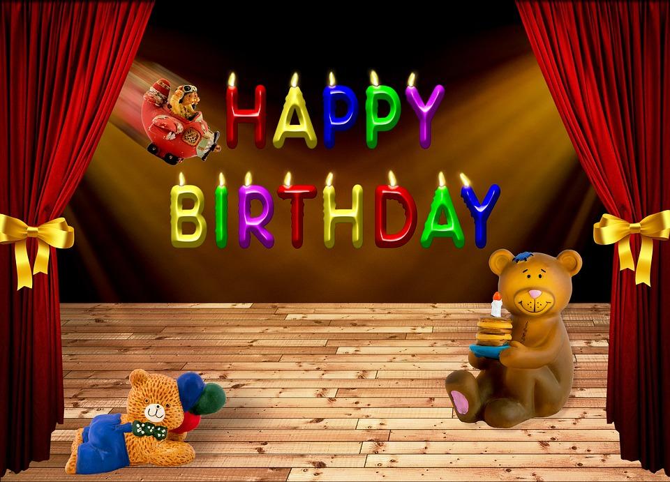 birthday, happy birthday, bear