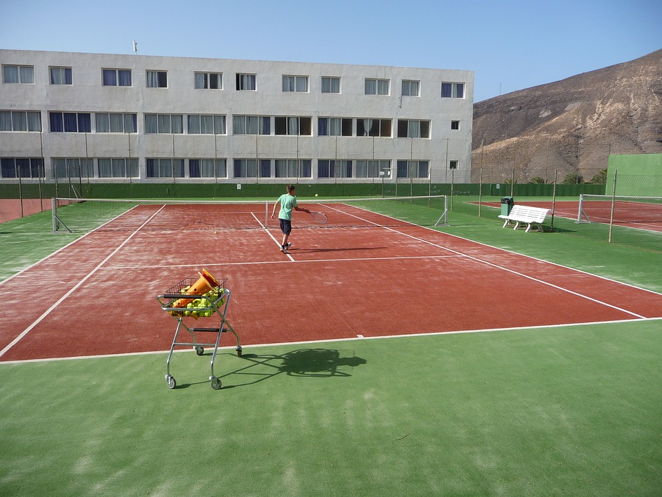 tennis, training, tennis court
