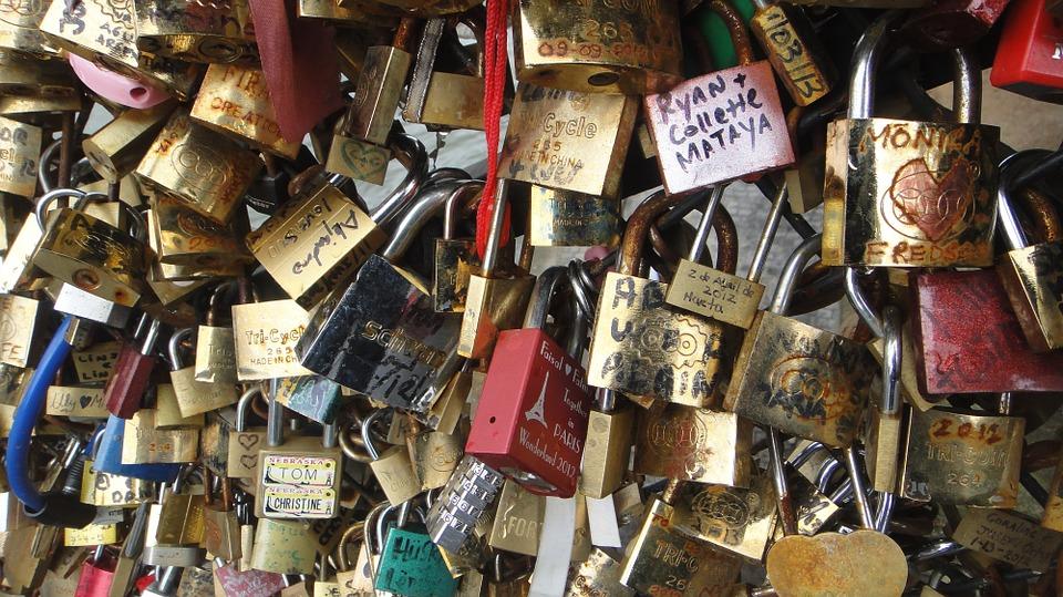 locks, love, bridge