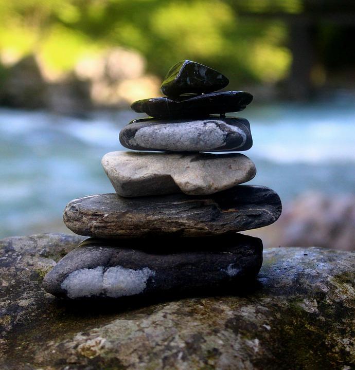 stones, massage, balance