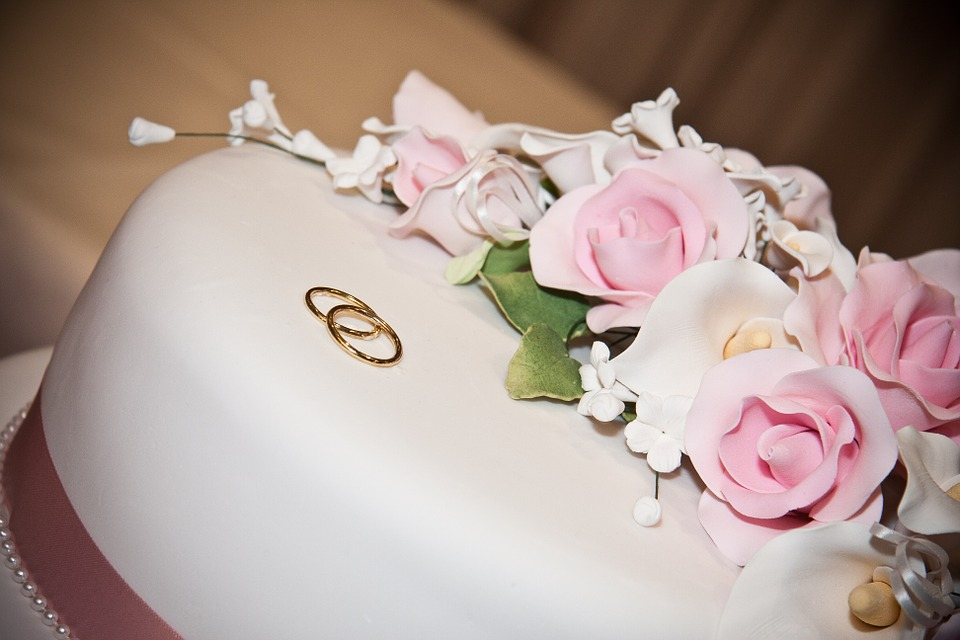 cake, decorated, floral