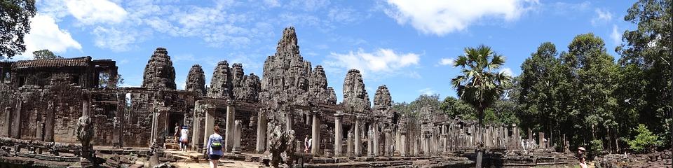 temple, panoramic, statue