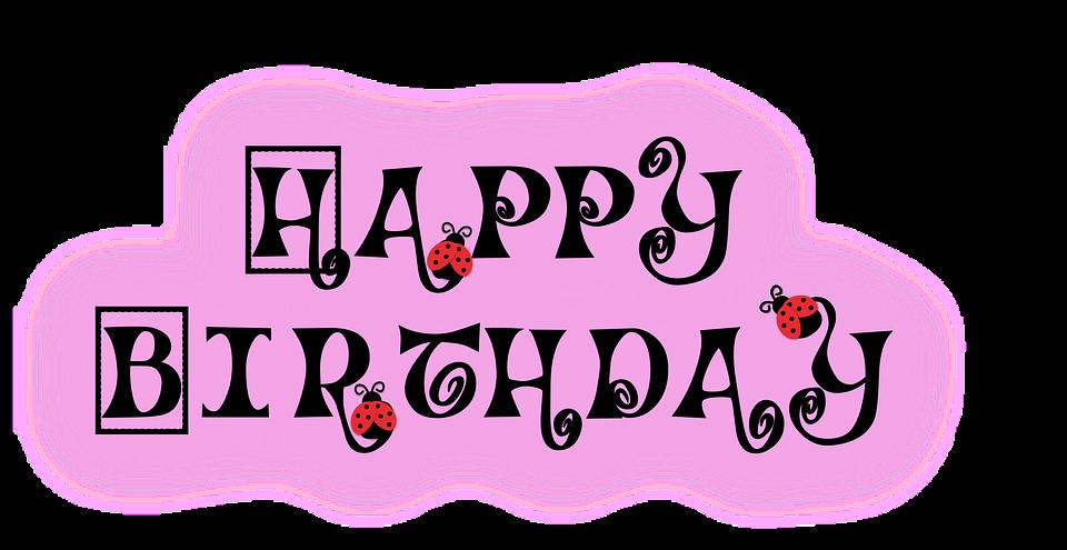 happy, birthday, ladybug