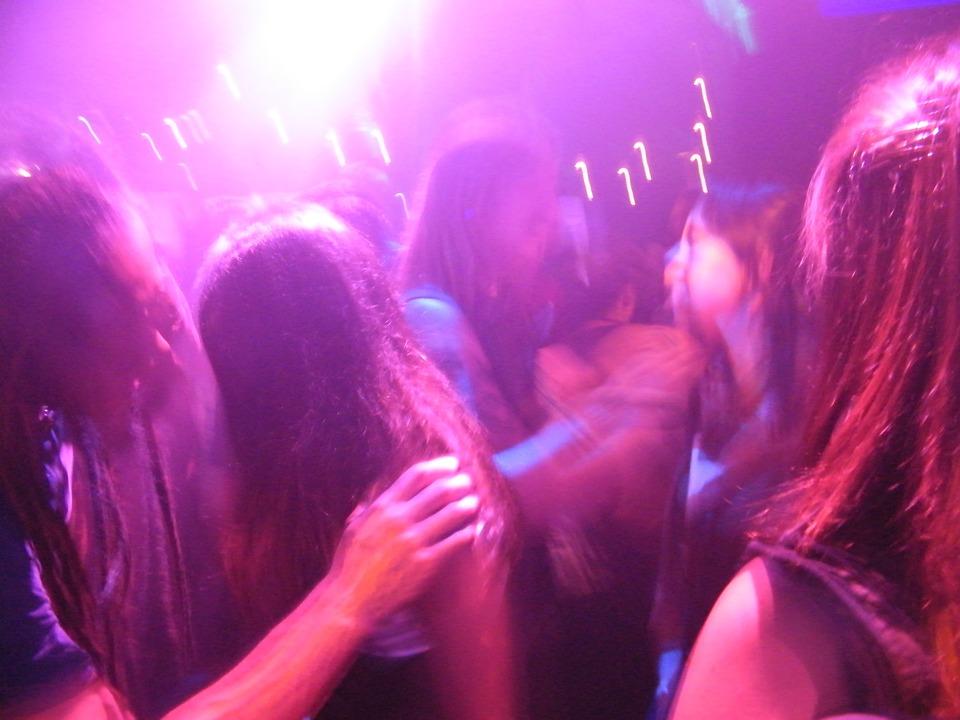 night, club, dancing