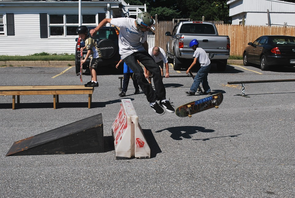 skateboard, boys, ramp