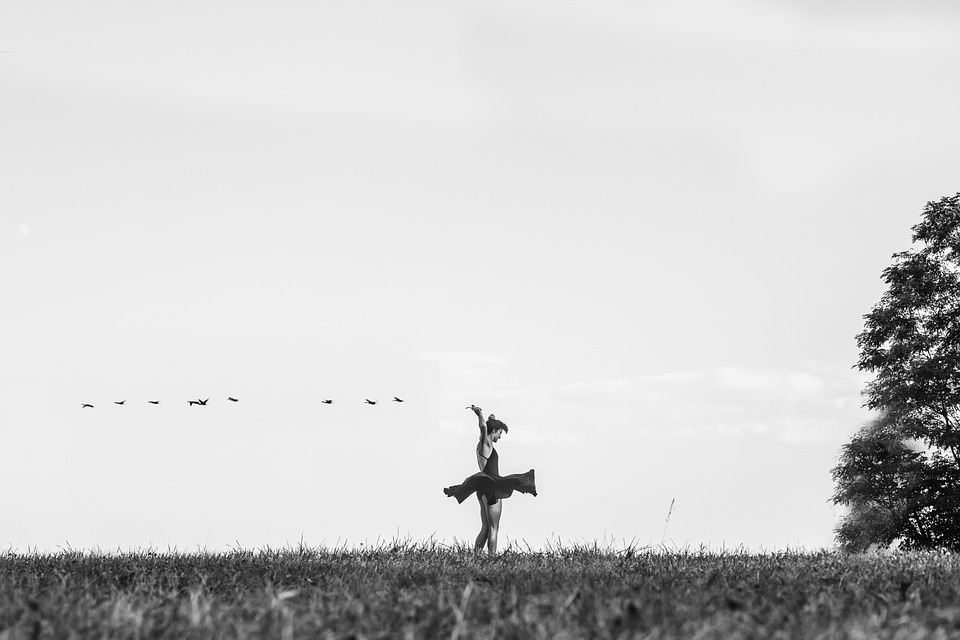 dancer, lady, field