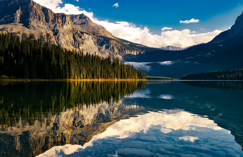 canada, lake, reflections