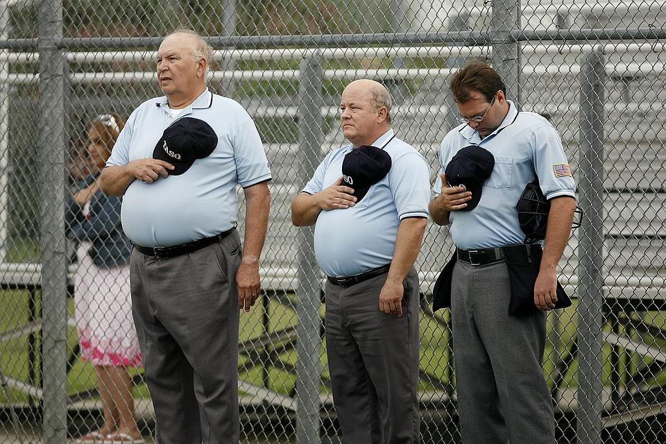 umpires, softball, men