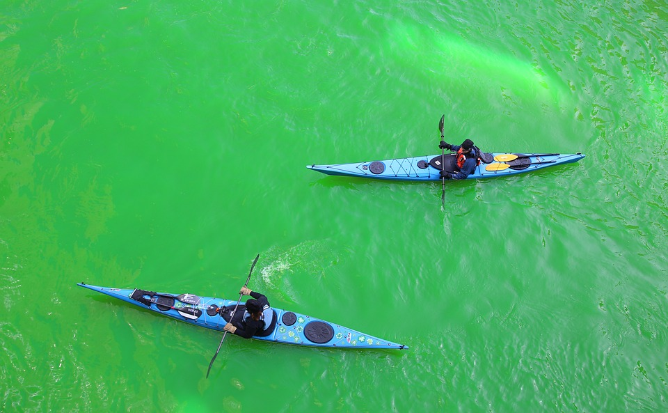 chicago, chicago river, st patrick\'s day