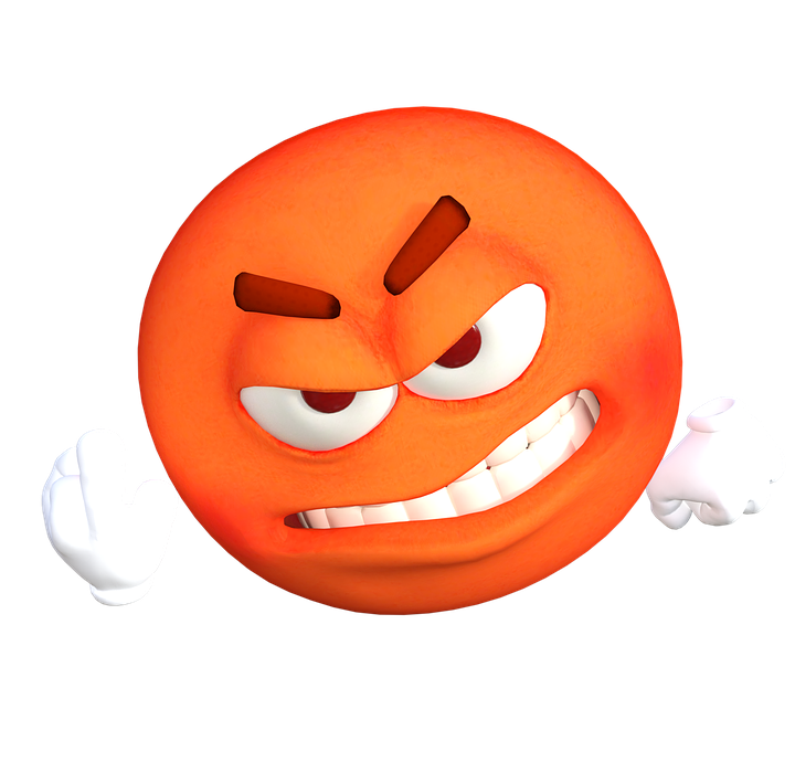 emoticon, emoji, angry
