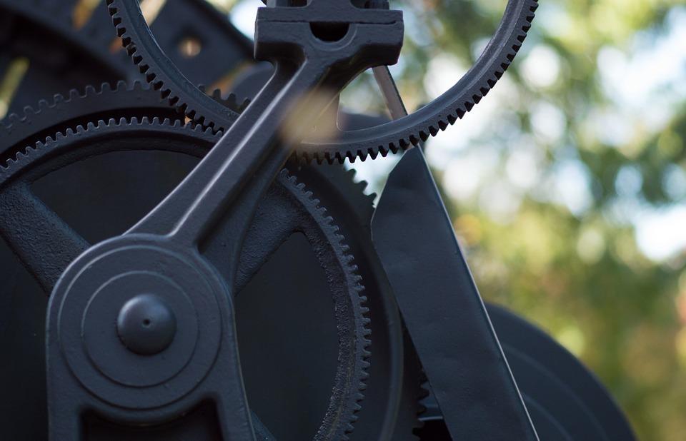 gears, black, equipment