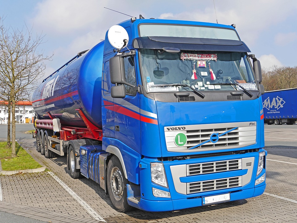 tank truck, truck, tractor