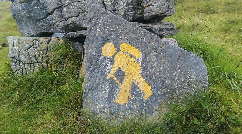 pedestrian, tourist, sign
