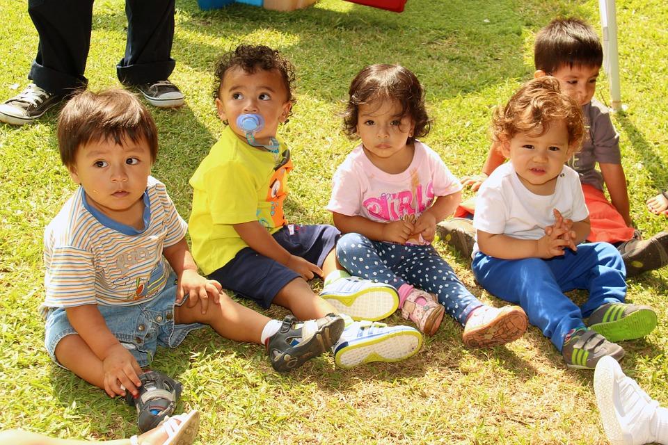 babies, children, park